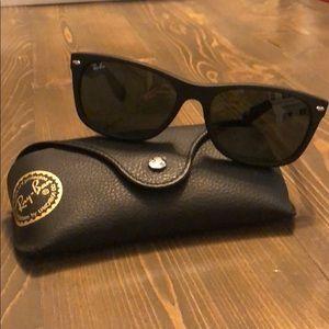 "Black Ray Ban ""New Wayfarer"" Style Sunglasses"